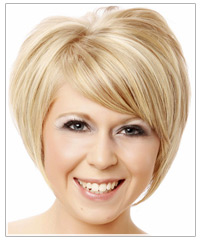 Short blonde hair with blonde highlights